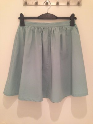 H&M Circle Skirt lime-green cotton