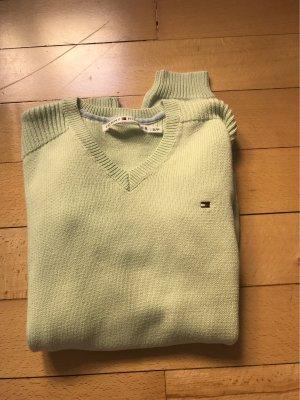 Hellgrüner Tonmy Hilfiger Pullover in S