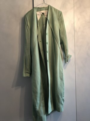 Hellgrüner Trenchcoat