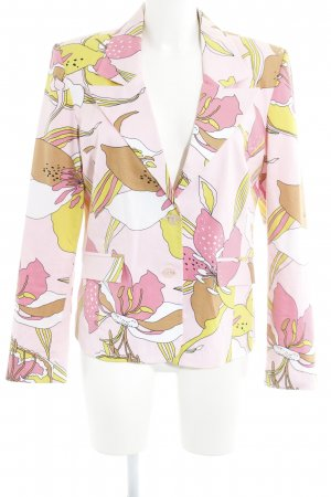 Helline Korte blazer roze-roze abstract patroon extravagante stijl