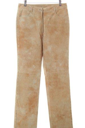 Helline Leren broek licht Oranje zakelijke stijl