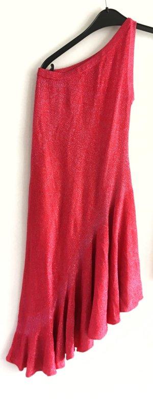 Asos One Shoulder Dress magenta