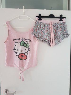Hello Kitty Cropped Schlafanzug Pyjama