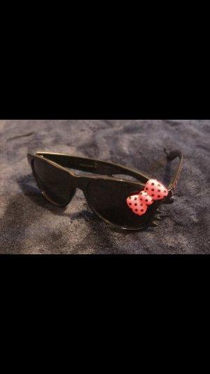 Hello Kitty Sonnenbrille Brille schwarz / pink mit Punkten wie neu