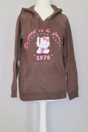 Hello Kitty Sweatshirt Hoodie Gr. XS braun