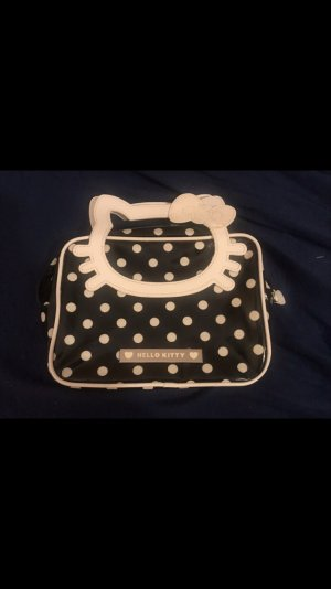 Hello Kitty Tasche Handtasche Clutch schwarz / weiß Punkte Dots neu