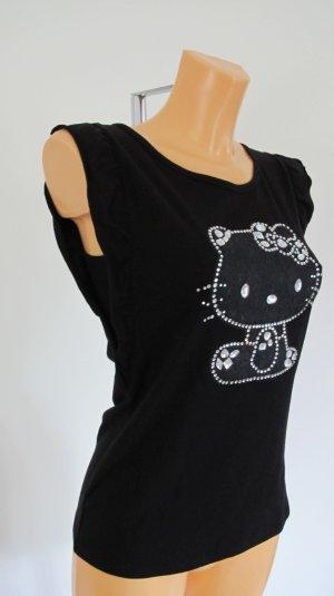 """Hello Kitty """"VICTORIA CASAL"""" T-Shirt schwarz, Gr.36  NP 89,-€  NEU mit Etikett"""