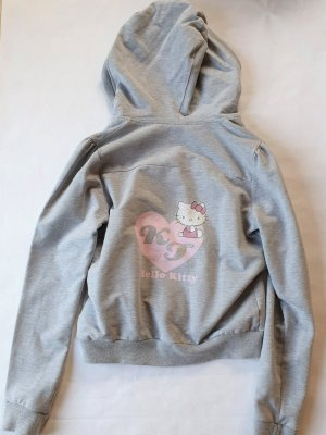 Hello kitty Hooded Vest light grey cotton