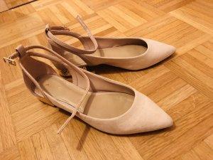 Aldo Strappy Ballerinas gold-colored-pink