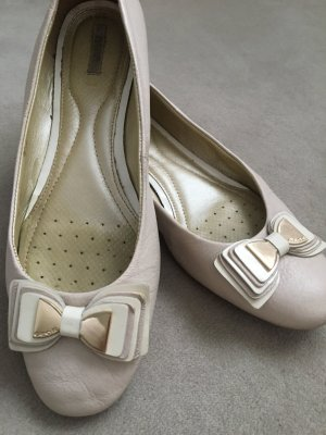 Hellrosa ballerinas mit goldener Schleife GEOX