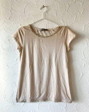 Hellrosa/Beige Shirt mit Verzierung
