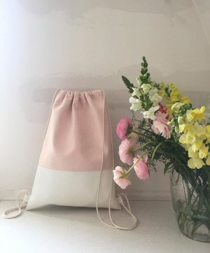 Pouch Bag pink-natural white