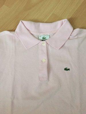 Hellrosa farbenes Polo Shirt von Lacoste in Größe 42