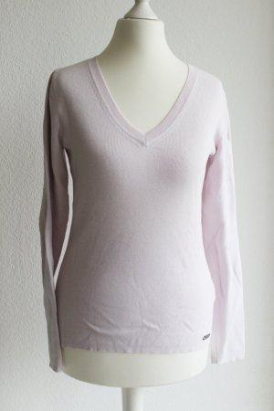 Hellrosa Pullover mit V-Ausschnitt