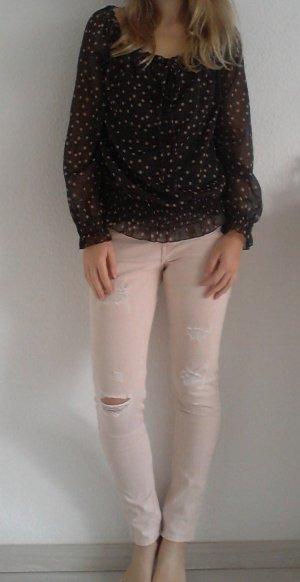 Hellrosa Slim Jeans von H&M