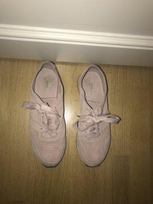 Hellrosa Wildleder Sneaker