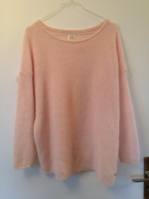 Hellrosaner Pullover, Wolle
