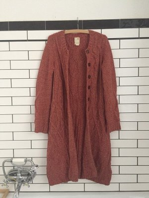 Anthropologie Knitted Coat bright red
