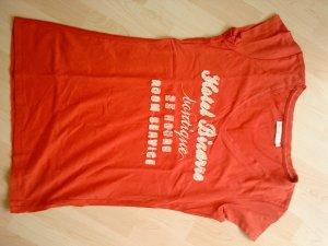 hellrotes V-Ausschnitt T-Shirt von Only Größe M