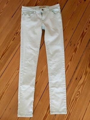 helltürkise Jeans von Zara in Größe 34