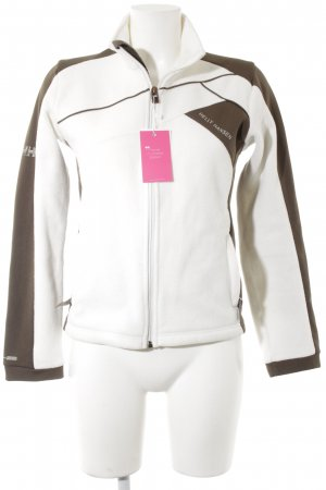 Helly hansen Fleecejacke weiß-graubraun Colourblocking Casual-Look