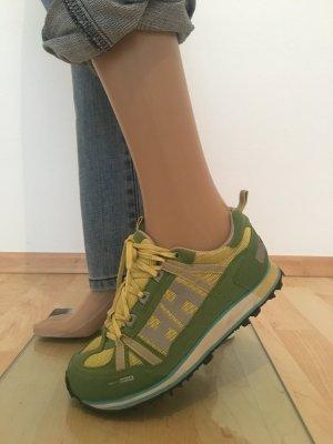 Helly Hansen grün lime gelb Zitrone retro Vintage  Silber Reflektor hh sneaker Turnschuhen Sportswear casual lässig knallig Schnürschuhe