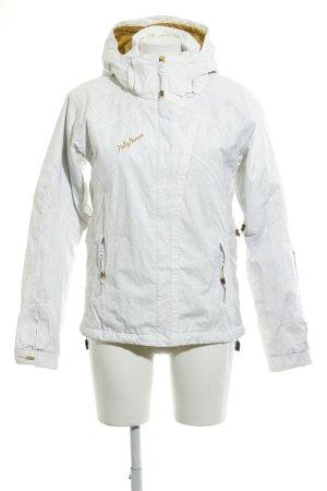 Helly hansen Giacca sport bianco-grigio chiaro motivo astratto stile atletico