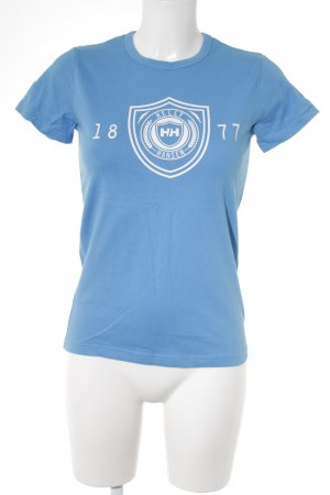 Helly hansen T-Shirt neonblau Motivdruck Casual-Look