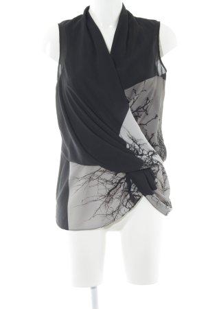 Helmut Lang ärmellose Bluse abstraktes Muster klassischer Stil