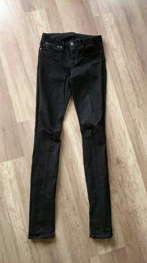 Helmut Lang Jeans Schwarz Röhre Denim Skinny fit 26