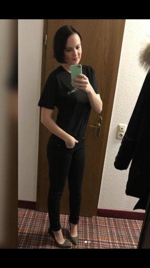Helmut Lang Jeans Skinny Slim Fit Röhre Black Denim