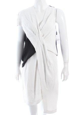 Helmut Lang Kleid weiß-schwarz extravaganter Stil