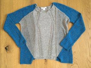 Helmut Lang Pullover all'uncinetto blu-grigio Cotone