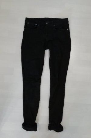 Helmut Lang Skinny Fit Röhre Jeans Black Denim Skinny