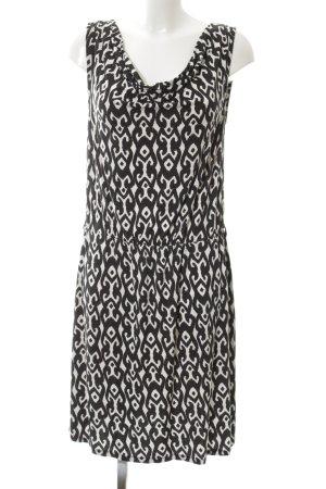 Hema Jerseykleid weiß-schwarz Allover-Druck Casual-Look