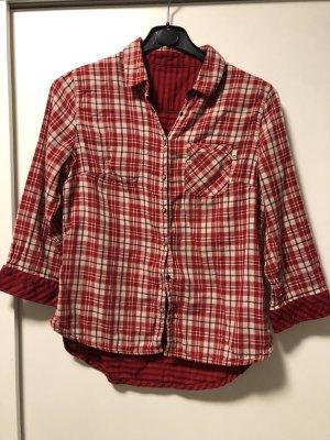 Timberland Denim Shirt red-natural white