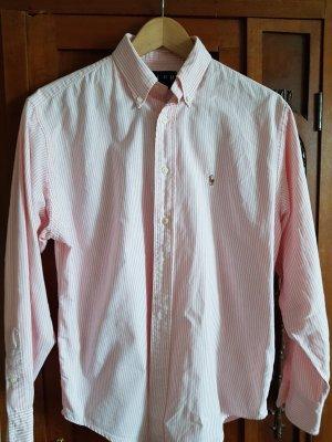 Polo Ralph Lauren Blusa-camisa blanco-rosa claro Algodón