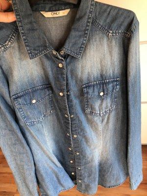 Only Denim Shirt cornflower blue