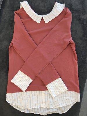 Primark Blusa larga blanco-color rosa dorado