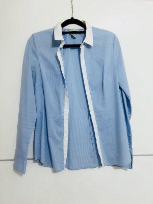 H&M Shirt met lange mouwen wit-azuur