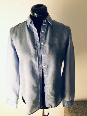 Mango Denim & Tees Camicia a maniche lunghe bianco-blu acciaio