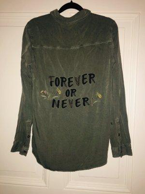 H&M Camisa de manga larga caqui