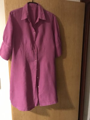 120% HNO Linen Blouse neon pink