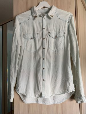 H&M Studio Shirt met lange mouwen lichtblauw-goud