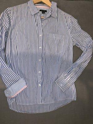 Amisu Long Sleeve Shirt white-cornflower blue