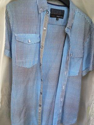 angelo litrico Short Sleeve Shirt white-light blue