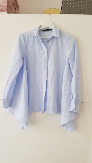Zara Blouse-chemisier bleu clair