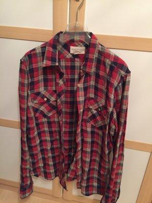 Ralph Lauren Camisa de leñador rojo-azul oscuro