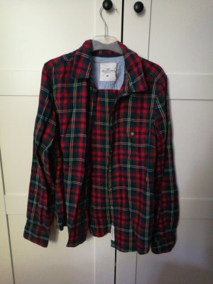 H&M Flannel Shirt red-green