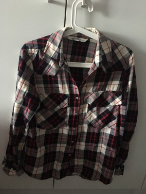 Zara Trafaluc Lumberjack Shirt white-bordeaux